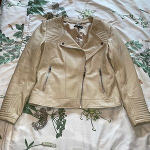 Slate & Willow Taupe leather jacket